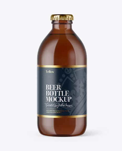 Clear glass lager beer bottle mockup 500ml. Green Glass Beer Bottle Mockup - Dark Amber Beer Bottle ...