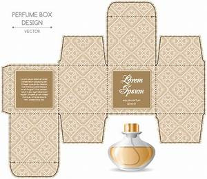 perfume box packaging template vectors material 10 With cologne box template