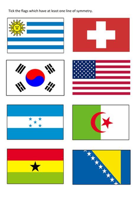 flags symmetry worksheets  tomremnant teaching