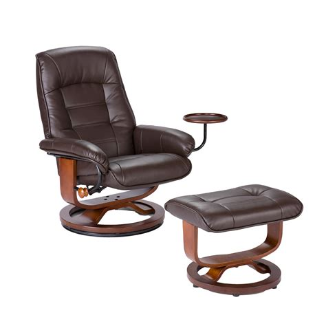 brown leather chair with ottoman living room leather recliner and ottoman coffee brown