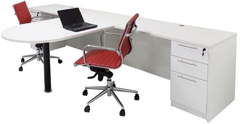 White 2 Person Shared Office Desk