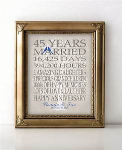 45th wedding anniversary gift for parents sapphire anniversary for 45 wedding anniversary gifts