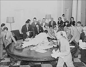 James S. Brady Press Briefing Room Historical Photo Essay