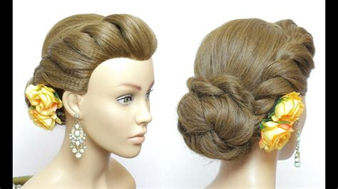 Simple Juda Hairstyle. Easy Twist Low Bun For Long Hair