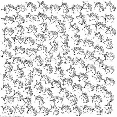 Pattern Coloring Unicorn Pages Sheet Getcoloringpages Sheets