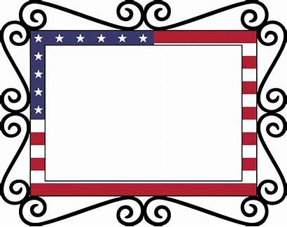 Flag Frame Clipart American Border Usa Vector