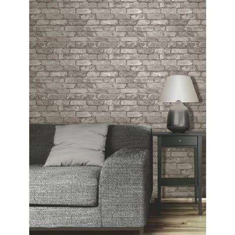 papier peint brique gris achat vente papier peint