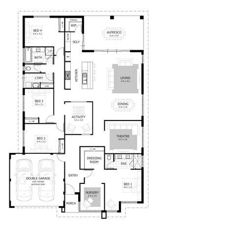 Home Floor Plans With Pictures by 4 Bedroom House Plans Home Designs Celebration Homes