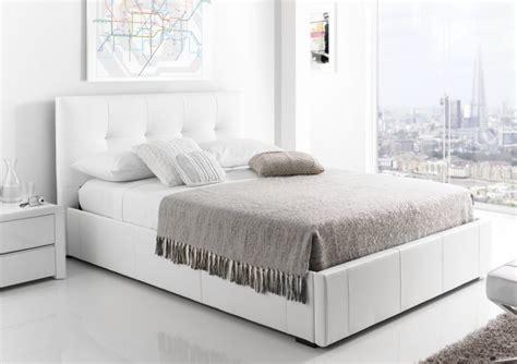 storage bed white kaydian hexham upholstered storage drawer bed white