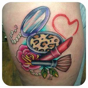 makeup tattoo eeh maybe without the rose and the pearls ...