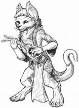 Bard Hobbit Coloring Sketch Dnd Template sketch template