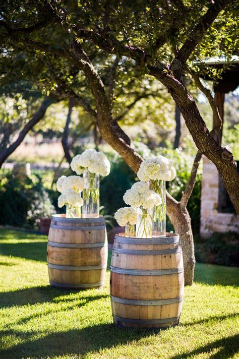 country wedding ideas  ways   wine barrels