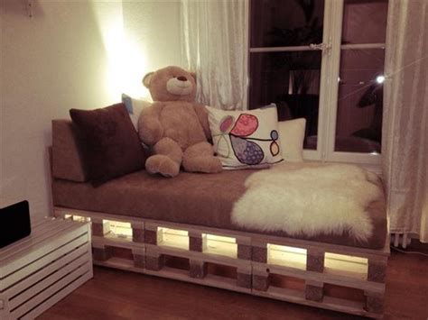 bed with lights wooden pallet bed with lights pallet wood projects