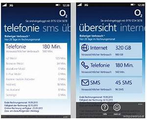 O2 Meine Rechnung Einsehen : mein o2 als app f r windows phone 8 steht in den startl chern ~ Themetempest.com Abrechnung
