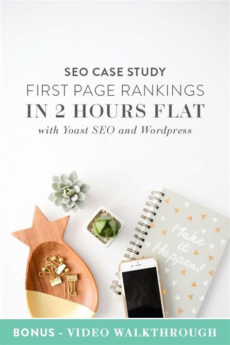 seo case study  page rankings   hours flat