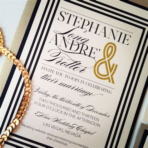 ivory gold  black wedding invitations suit