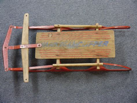 Snow Boat Sled by Wooden Sled Ebay Autos Post