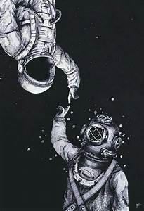 art, astronauts, backgrounds, cute, indie, mercury, moon ...