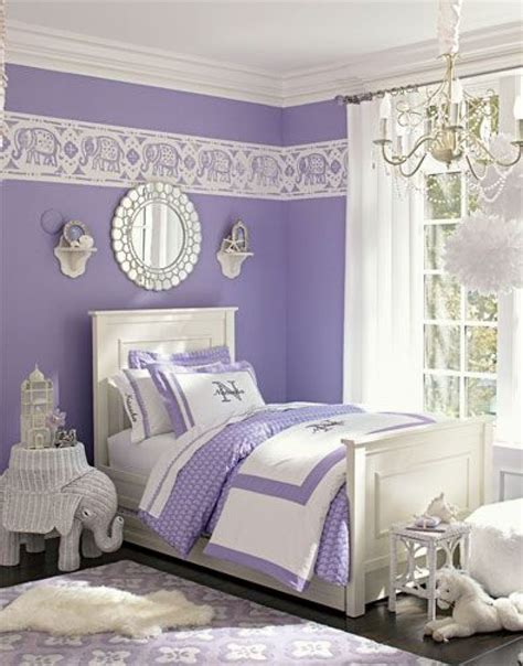 Bedroom Luxurious White And Purple Nuanced Contemporary