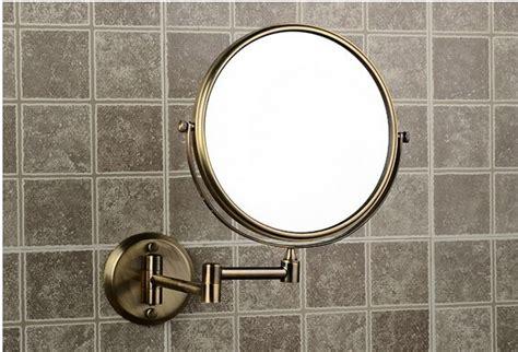 Brass Bathroom Mirror by 2016 Antique Bronze Brass Wall Makeup Mirror 8 Inch