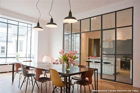 cuisine ouverte sur salon amnagement cuisine ouverte sur salon with contemporain