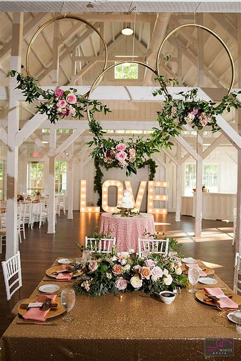 glamorous rose gold wedding decor ideas gold wedding