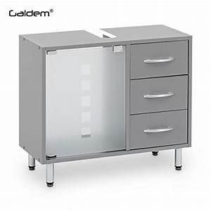 Galdem Waschbeckenunterschrank Mit 3 Schubladen Glastr