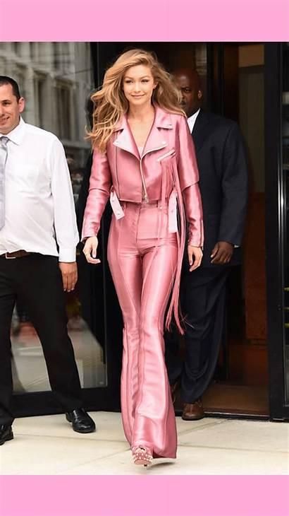 Pink Jacket Biker Trend Hadid Anatomy Gigi