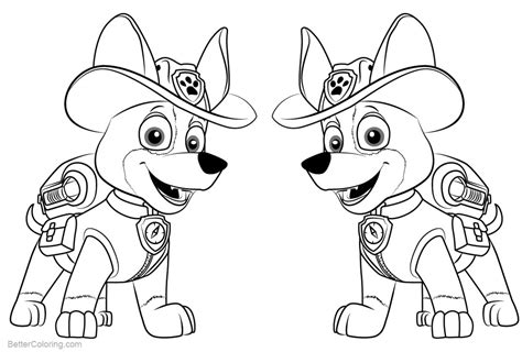 PAW Patrol Coloring Pages Tracker Free Printable
