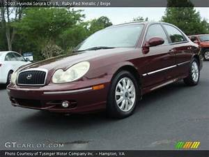 Ruby Red Metallic - 2003 Hyundai Sonata Lx V6