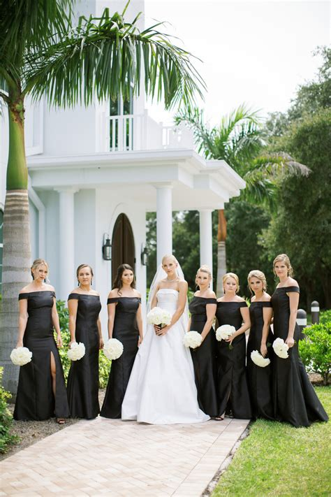 Luxurious Black White and Gold Clearwater Wedding