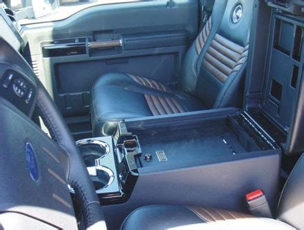 ford  super duty floor console vault