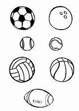 Ball Coloring Soccer Pages Sports Balls Football Drawing Printable Drawings Template Sheet Clipartmag Paintingvalley Getcolorings sketch template
