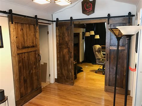 diy sliding barn bedroom  bathroom doors dave eddy
