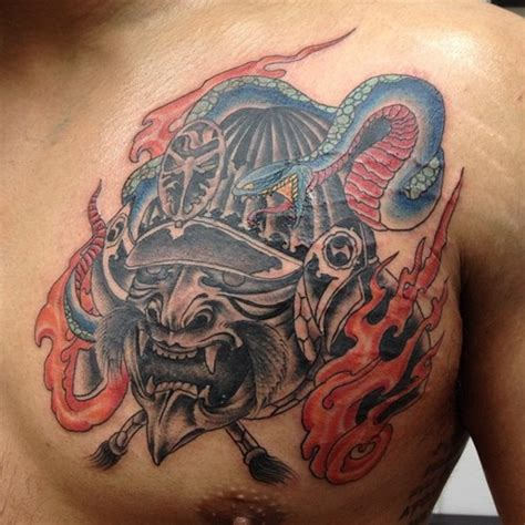 Samurai Mask Tattoos Designs, Ideas And Meaning Tattoos