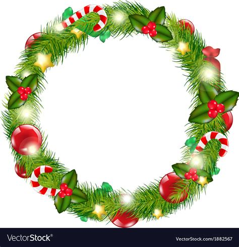 merry christmas wreath royalty free vector image