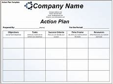 6+ sample action plan template teknoswitch