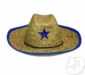 Chapeau De Paille Enfant : chapeau cowboy de paille avec toile pour enfant ~ Melissatoandfro.com Idées de Décoration