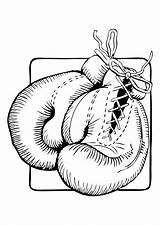 Coloring Gloves Getcolorings Boxing sketch template