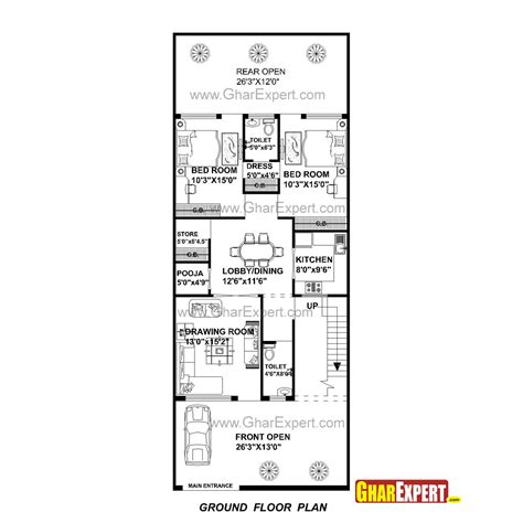 House Plan For 27 Feet By 70 Feet Plot (plot Size 210