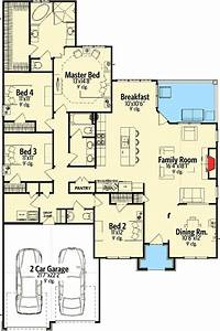 Craftsman House Plan With Open Layout - 86221hh