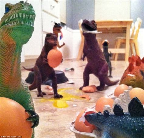 dinovembers toy dinosaurs   life  creative parents spark web craze daily mail