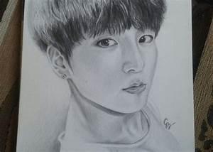 BTS' JungKook fanart drawn by me ^~^ K-Pop Amino