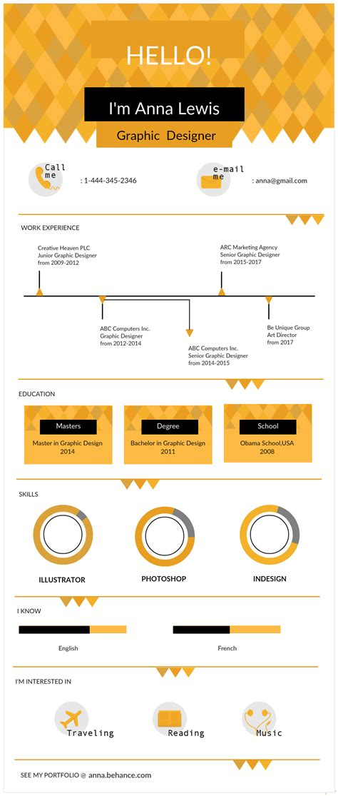 create infographic resume fre infographic resume templates the recruiters will