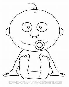 Drawing a baby cartoon