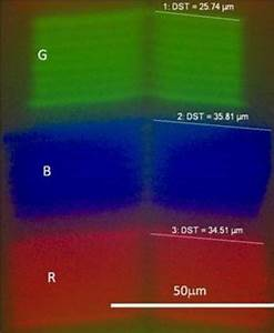 Microscope Image Of Rgb Oled On Android Screen For Smartphone Htc