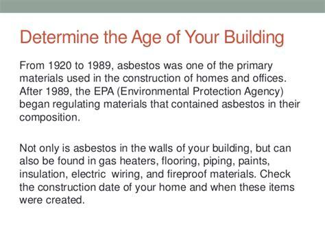checking  asbestos   home