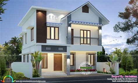 sq ft cute home plan kerala home design  floor plans