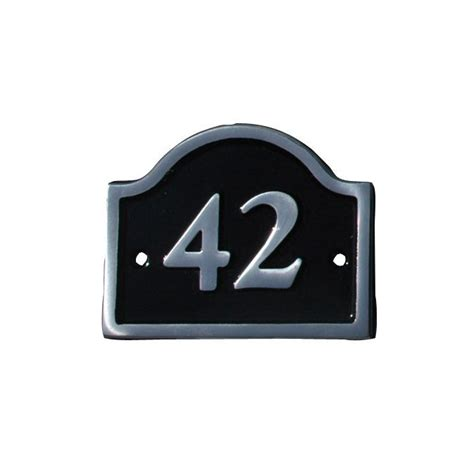 black aluminium house plate number  departments diy