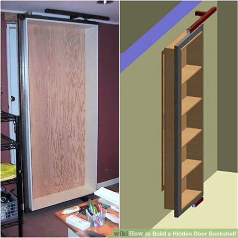 how to build a wall bookcase step by step how to build a hidden door bookshelf 6 steps with pictures